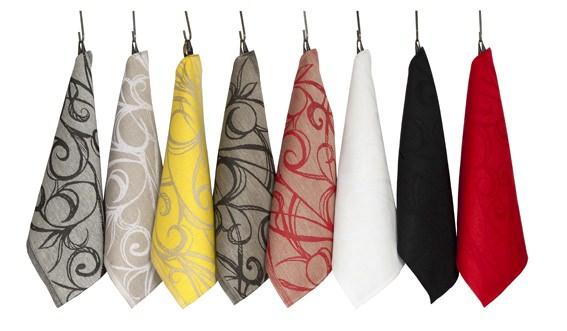Кухонные льняные полотенца линии Aika, дизайн Юкка Ринтала